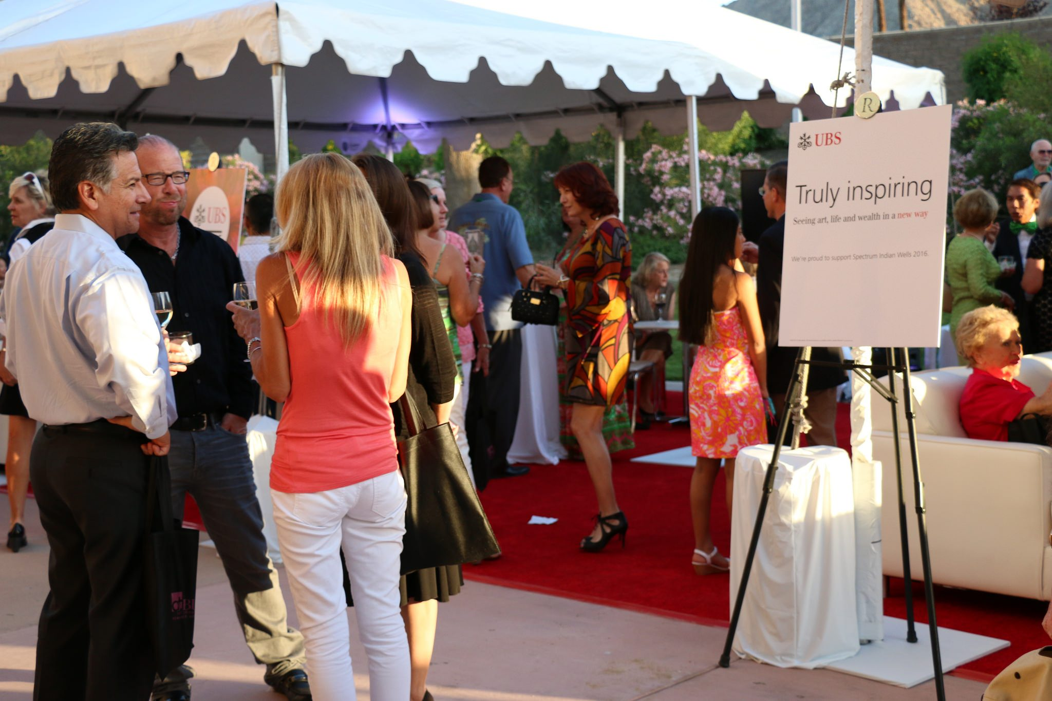The UBS Lounge was bustling at the Opening Night Preview Party.