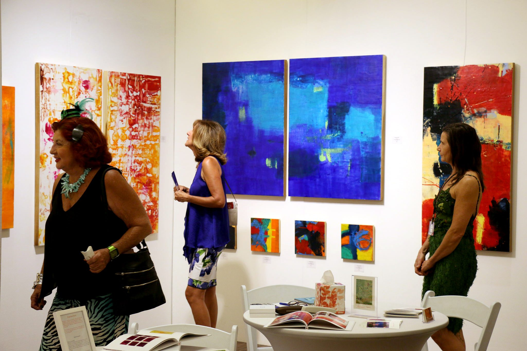 Colorful abstract paintings from Francesca Saveri Gallery.